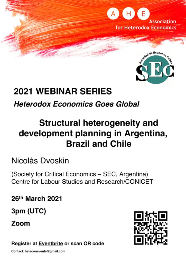 March Webinar: Structural heterogeneity and development planning in Argentina, Brazil and Chile