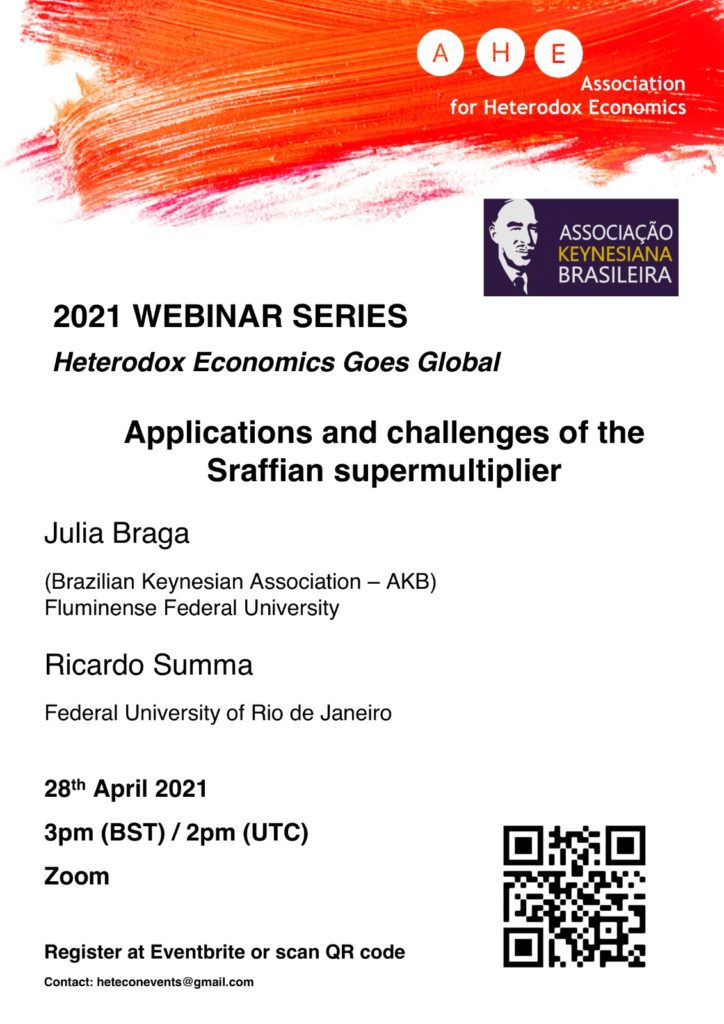 AHE Webinar April Braga and Summa - Applications and challenges of the Sraffian supermultiplier